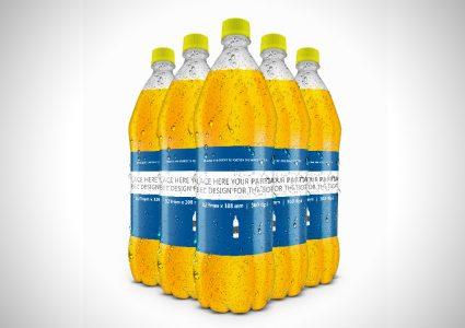Мокап пластиковой бутылки для воды