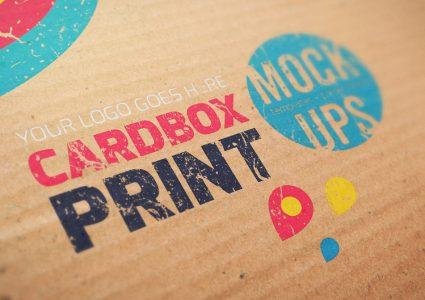 Мокап логотипа Cardbox Print