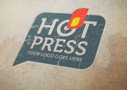 Мокап логотипа Hot Press