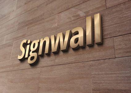 Мокап логотипа на стене