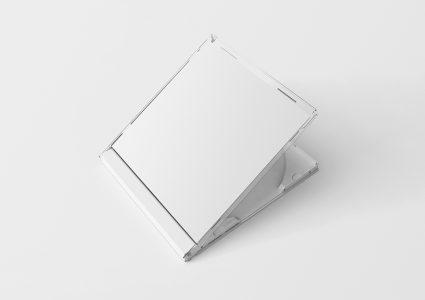 Мокап обложки CD белый