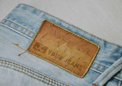 Мокап этикетки для джинсов