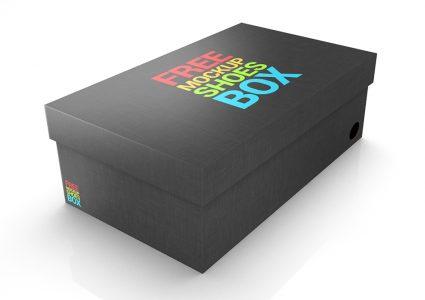 Мокап коробки для обуви