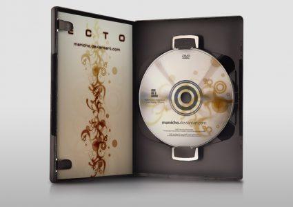 Мокап обложки DVD