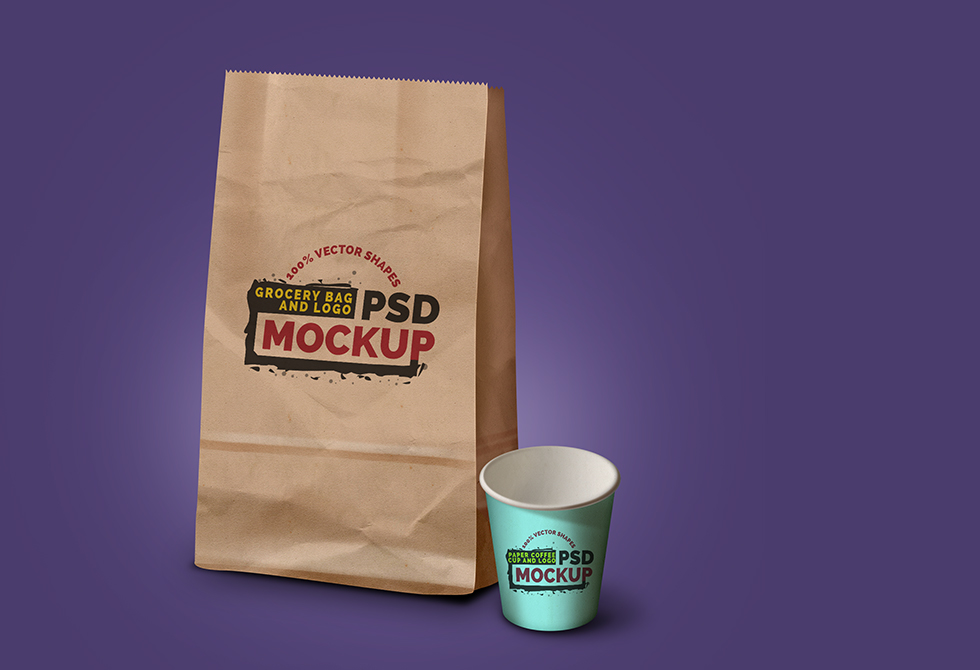 grocery-bag-coffee-cup-mockup