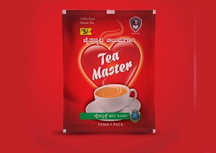 Мокап упаковки пакетика чая