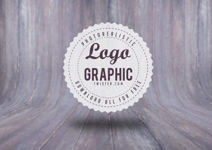 Мокап логотипа в стиле ретро