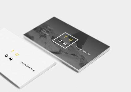 Мокап визитных карточек