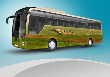 Мокап автобусов