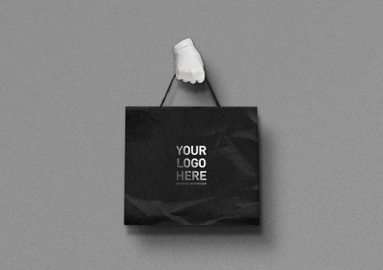 Мокап этикеток, пакета и ленты