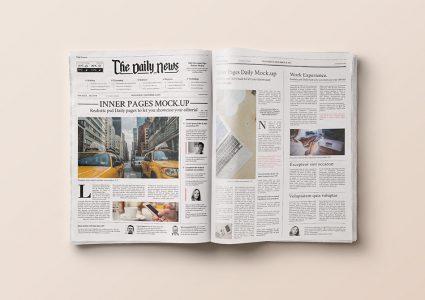 Мокап газеты