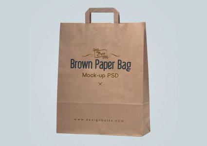 Мокап бумажного пакета