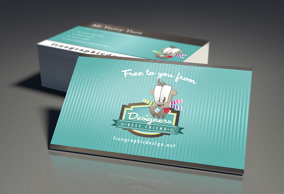 Free Business Card Mock Up 2 from freegraphicdesign.net
