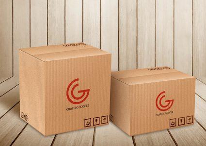 Мокап коробок для посылки