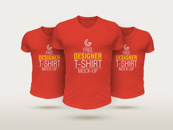 Free Designer T-Shirt Mockup