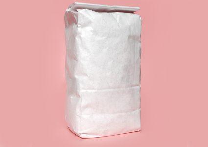 Мокап бумажного пакета для хранения