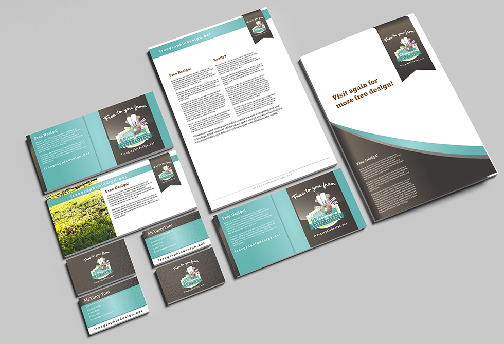 Free Stationary Mock Up from freegraphicdesign.net