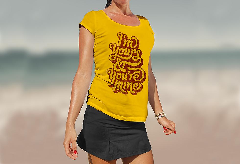 Girl T-Shirt Mockup