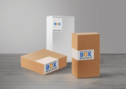 Мокап набора коробок