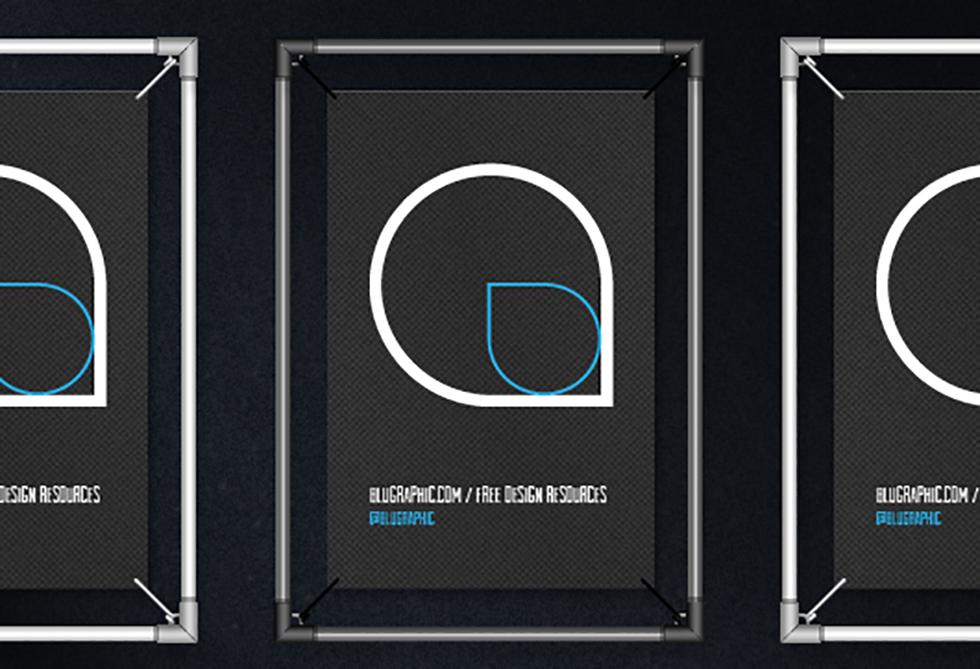 Poster Frame Mockup - L - Dark