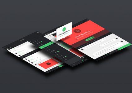 Мокап презентации приложения для планшета