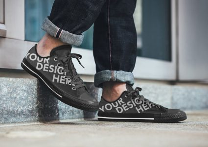 Мокап спортивных ботинок