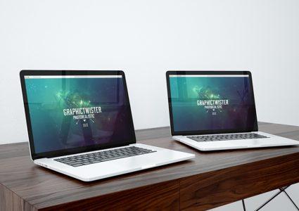 Мокап ноутбуков
