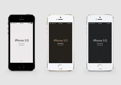 Мокап iPhone 5 в разных расцветках