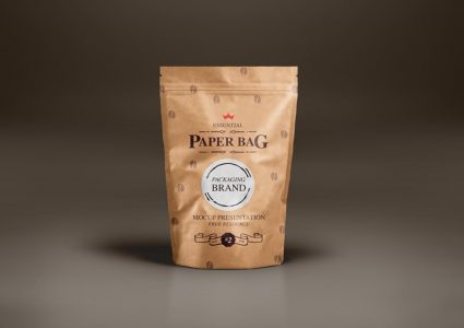 Мокап упаковки для кофе
