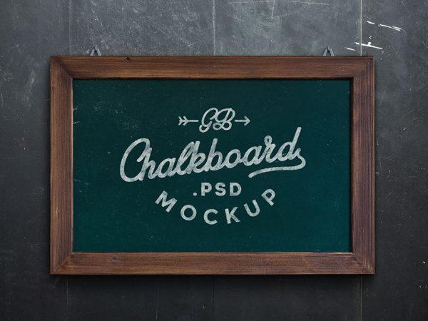 Chalkboard PSD MockUp