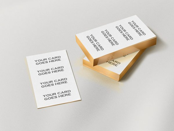 Gold edge letterpress Bcard