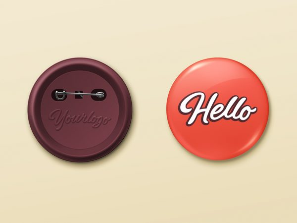 Pin Button Badge Mock-Up