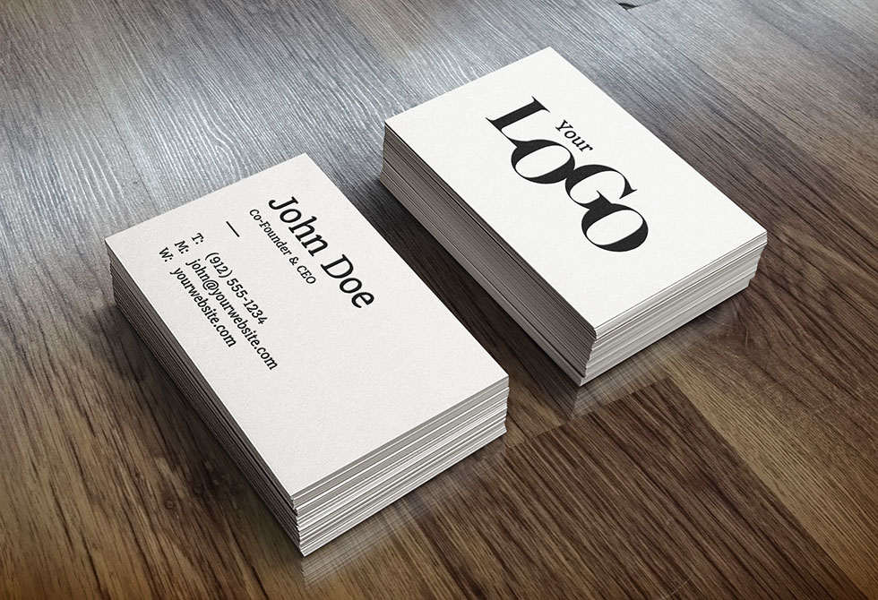 Realistic Business Card Mock-Up