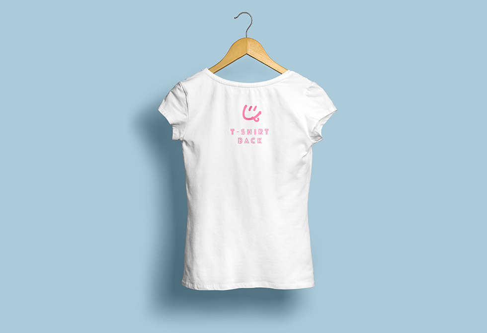 Woman T-shirt MockUp Back