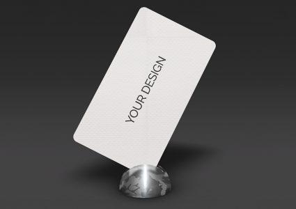 Мокап визитки на подставке