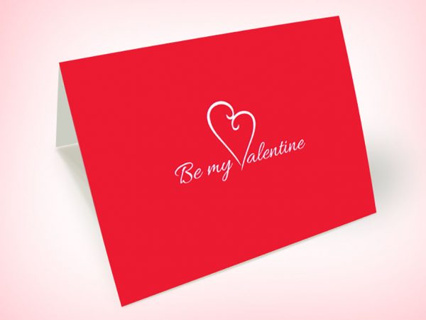 Valentines day card Design mockup PSD