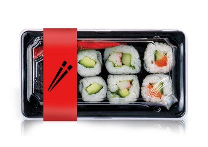 Мокап упаковки суши