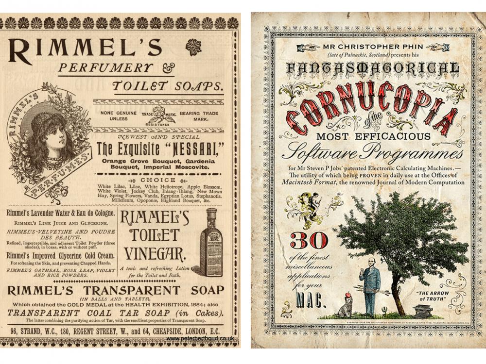 Графический дизайн в викторианском стиле
