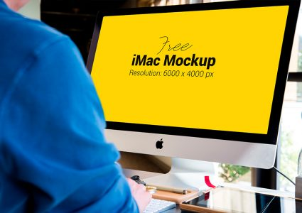 Мокап Apple iMac