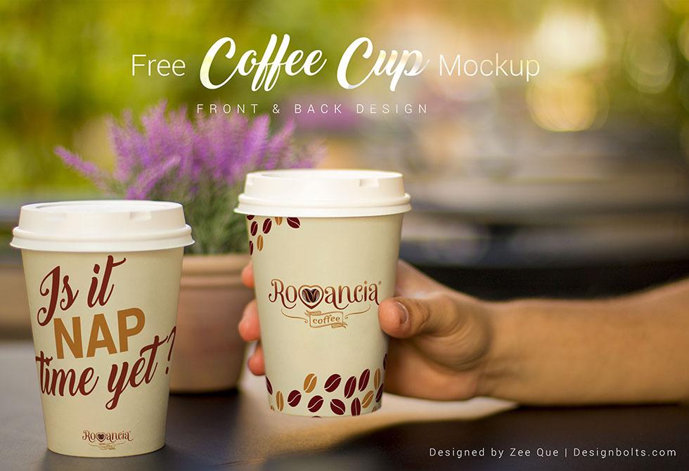 Free Coffee Cup Mockup PSD