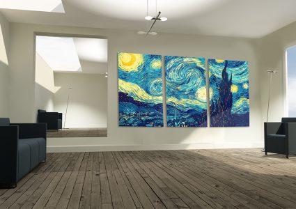 Мокап картин в интерьере