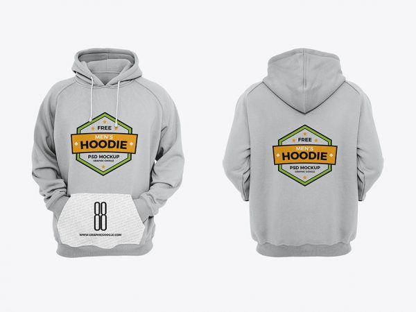 Free Men's Hoodie Mockup