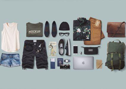 Мокап фирменного стиля одежды