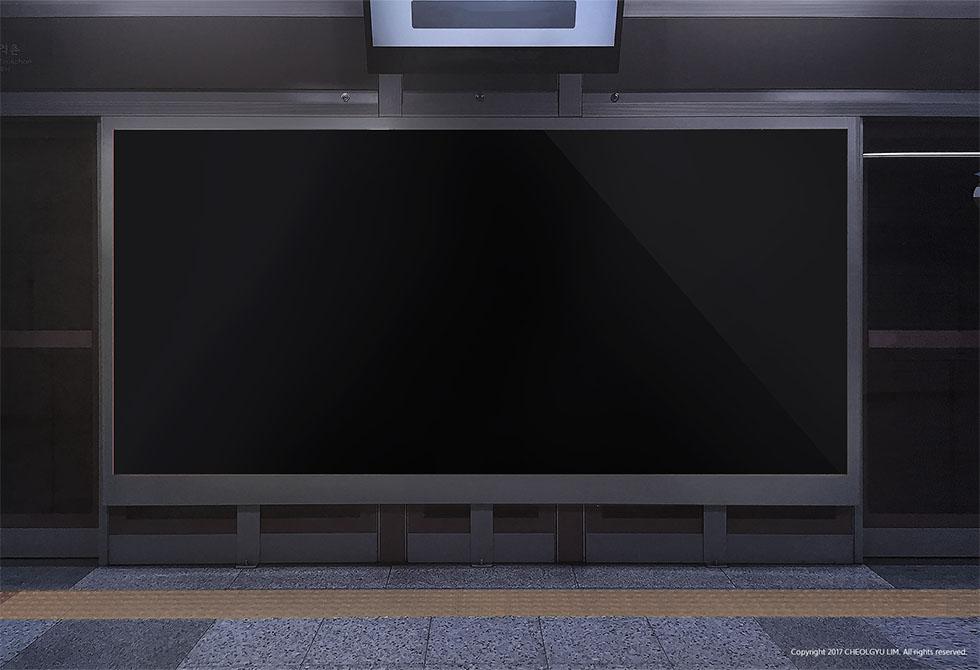 Мокап рекламы в метро
