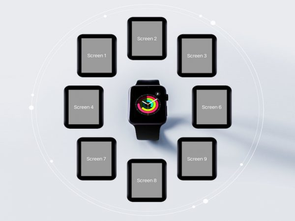 Мокап приложение Apple Watch