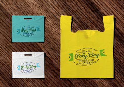 Мокап пластикового пакета