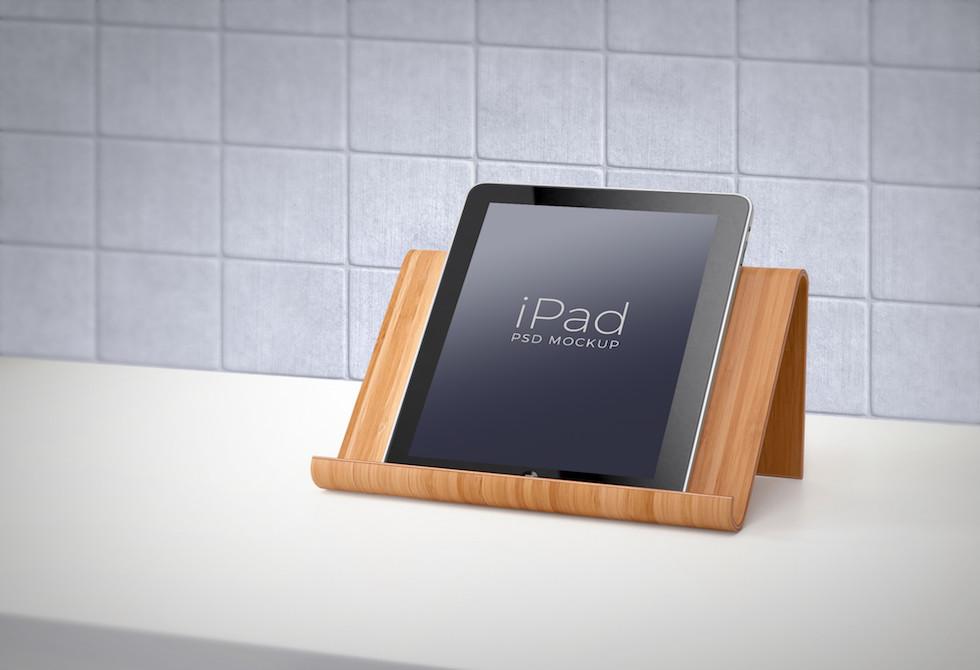 Мокап Apple iPad Вертикальный фотомакет