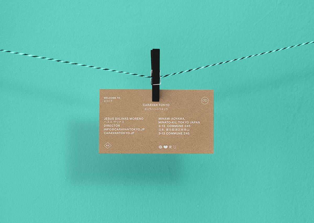 Мокап визитной карточки