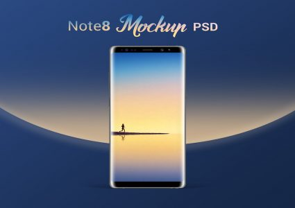 Мокап Samsung Galaxy Note 8 Phone PSD