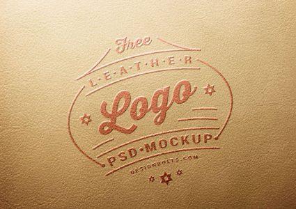 Мокап логотипа на коже